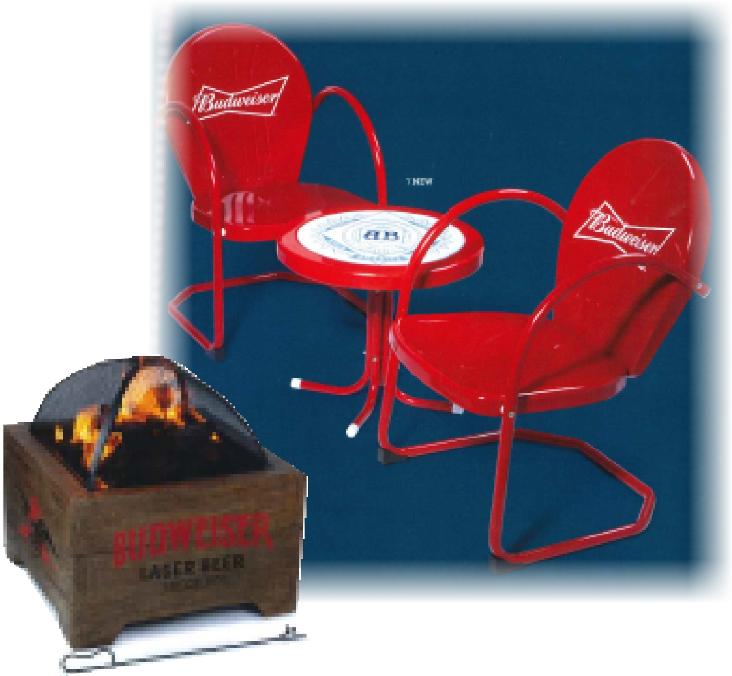 Win a Budwiser Table and chairs and Fire pit!